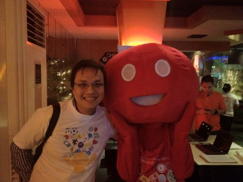 The mascot for Telkomsel Creativepreneur event — no, it is not the Kowawa character \(´▽`)/