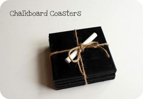 tutorial: chalkboard coasters (what a great gift!) via Crazy Wonderful