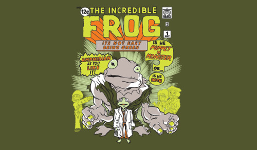 "ShirtPunch: ""The Incredible FROG"" by Brave Anderson."