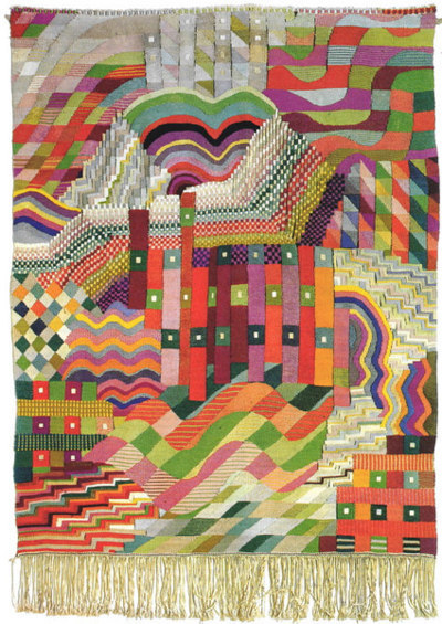 Gunta Stölzl (Slit Tapestry Red/Green, 1927/28)  Source: thamya