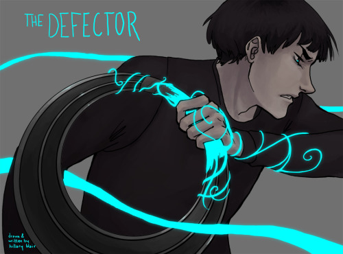 "octokiss:  I finally made a chapter cover for my webcomic, The Defector! It's good timing because on Monday, all the old pages will have been posted, and swanky new pages will begin on Friday! http://www.thedefectorcomic.com/ The comic is heavily influenced by your naturally occurring shounen manga, and is about an ""unlikely"" hero and his friend thrust into a war-torn fantastical alternate universe. Give it a read! I'm about to begin drawing the first action scene, so I can promise that it's going to get fun (and much better looking!!) quick. This image, for example, is very close to the way I've been drawing the pages right now. Cool! Spread the word, guys, if you feel so inclined! Updates Mondays & Fridays"
