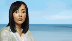 Larger Version Here Yunjin Kim as Sun, from LOST. About 4 hours. Artwork (C)Jessica de Mattos