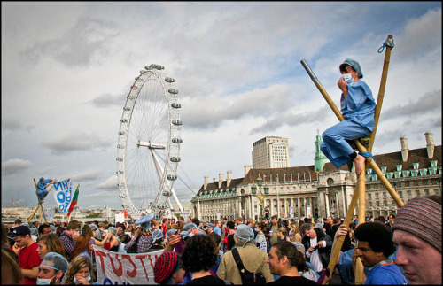 Protest Carnival by Sven Loach on Flickr.From London NHS protests in October 2011