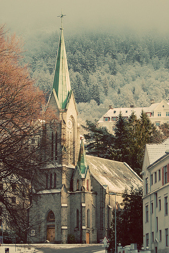 allthingseurope:  Sandviken church in Bergen, Norway (by .benedicte)