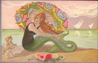 Art Deco Mermaid by Carlo Chiostri