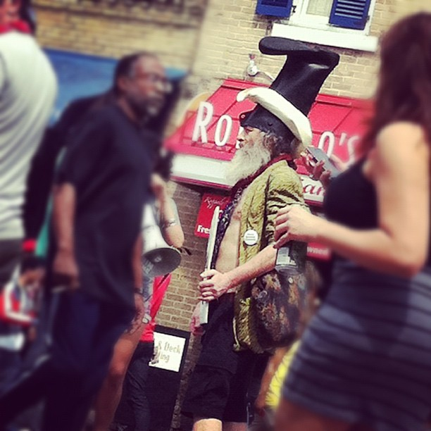 My first Vermin Supreme sighting of sxsw. This is probably a good omen  - @neonsigh