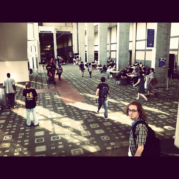 Convention center is emptying out. Sad panda. #sxsw - @mcasti