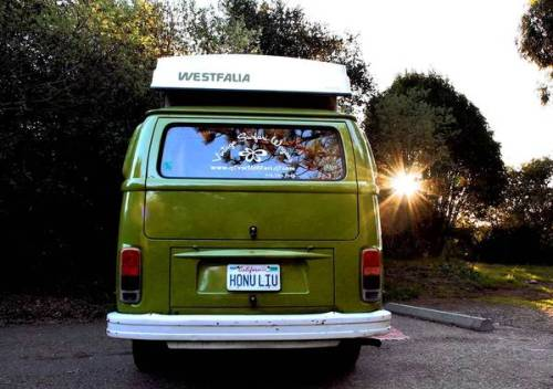 latimes:  Smiles and smiles to go in a VW bus: A trip up the Southern California coast takes on added character when there's a sparkling vintage camper to guide you along. So what's it like driving the thing?  So we could get an early start, Maria picked up the VW and learned all the quirky ins and outs of the 33-year-old bus. First thing: It's a bus. The steering wheel has a very Ralph Kramden vibe, horizontal instead of vertical, and it has this slightly unnerving combination of having lots of give and needing some muscle to steer (More on that later.)  Photo: Looking shiny and new, this '79 VW bus was a hit on the road. Credit: Alison Howard / For The Times  I know this feeling. I'd like to know it way more.