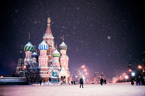 relucent:  Moscow. Snow. (by soleterranean)
