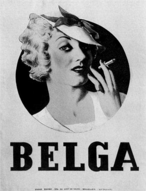 Poster for Belga cigarettes by René Magritte, 1935