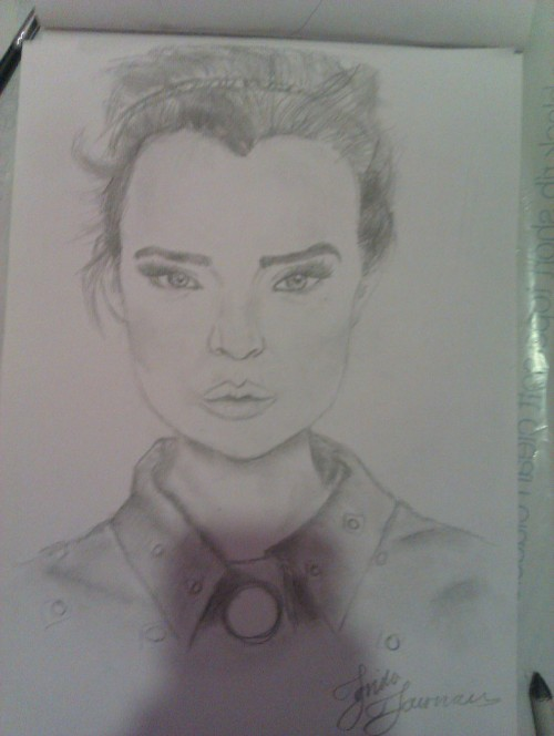 My drawing of Josephine Skriver. not the best either:/