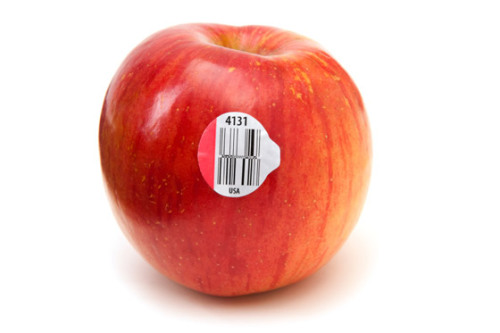 wcfoodies:  Those annoying fruit stickers can, apparently, be quiet informative: A 4-number code denotes conventionally-grown fruits and vegetables (pesticides used); A 5-number code beginning with 8 means, organic or not, the fruit or vegetable was genetically modified (GE or GMO); And a 5-number code beginning with 9 means the fruit was organically grown without genetic modification.