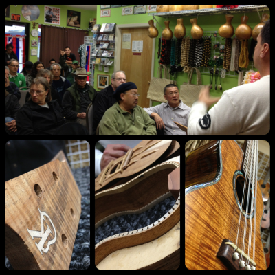 Kanile'a 'Ukulele workshop by Joe Souza at Aloha Warehouse in San Francisco