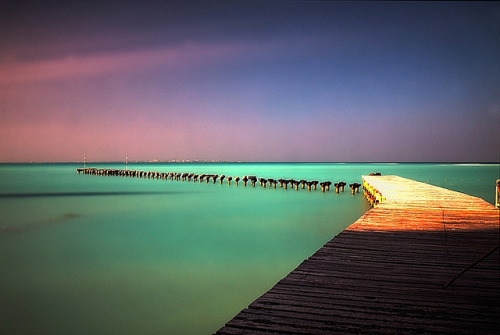 magicalnaturetour:  Caribbean Jetty by DolliaSH on Flickr. :)
