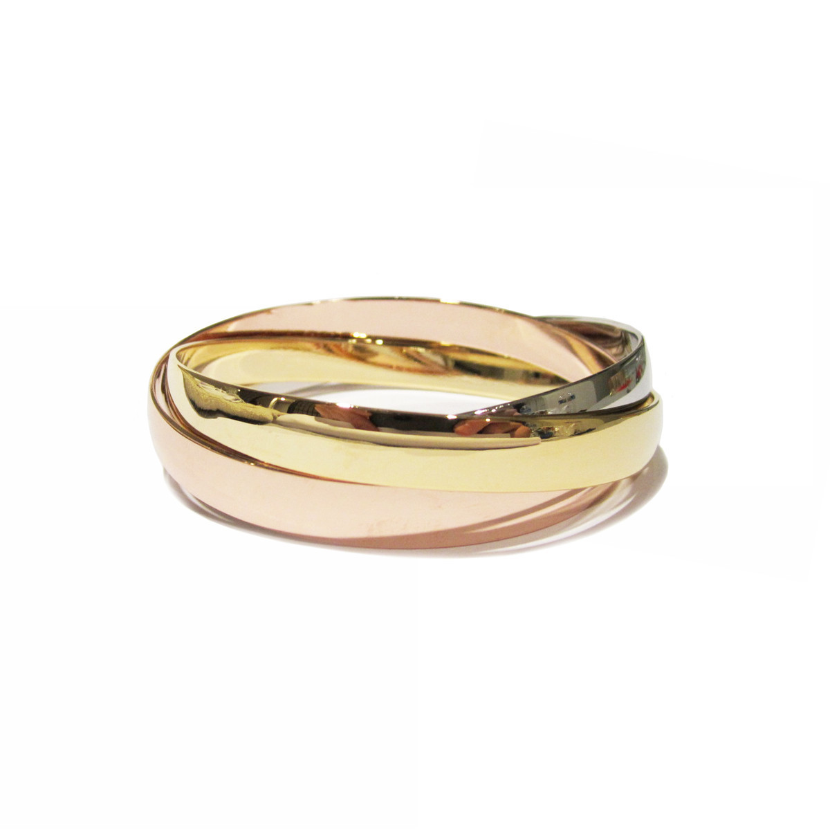 Fab.com Tri-tone Interlocking Bangle Set, 29% offFab.com