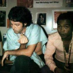 Two of the greatest ever - Paul McCartney & Fela Kuti during The Beatles' tour of Lagos in 1972. Legends