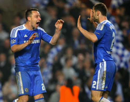 John Terry and Branislav Ivanovic ( Napoli )