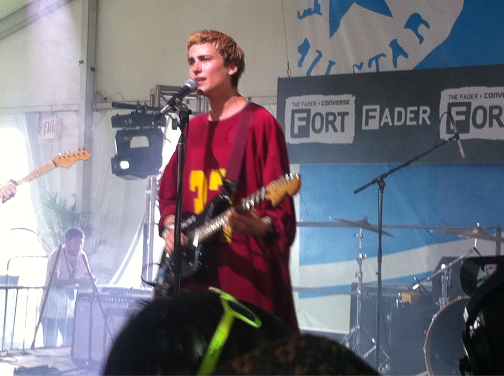 "Saw a handful of bands at the Fader Fort this year, and Beach Fossils side project DIVE takes the prize as my fave of 2012. The ""early New Order"" comparisons are lazy but accurate, and the bouncing, shypop modern rock shimmer was a nice way to spend a Saturday at the Fort before exiting long before everyone else caught a whiff of the Rick Ross headlining set rumors (which were true). Also caught the post-disco beat of Kindess right after Dive, but I sense the London crew will do more for me on record then a late afternoon set outside in Texas.  _Mm"