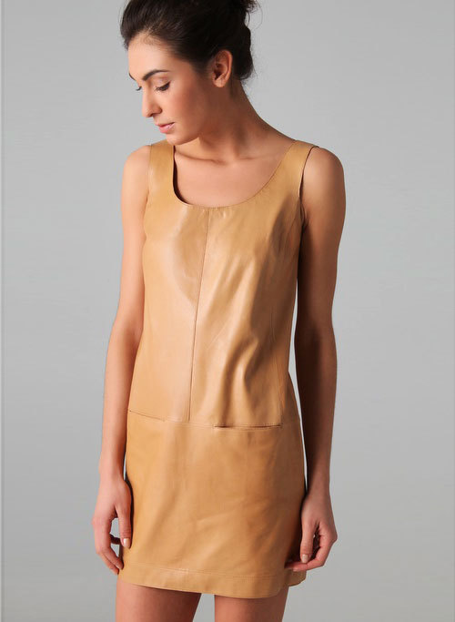 Vince Leather Tank Dress Leather's not just for winter anymore. This camel tone tank dress is a great investment piece that can be dressed up or down for day or night. Plus, it feels like butter.
