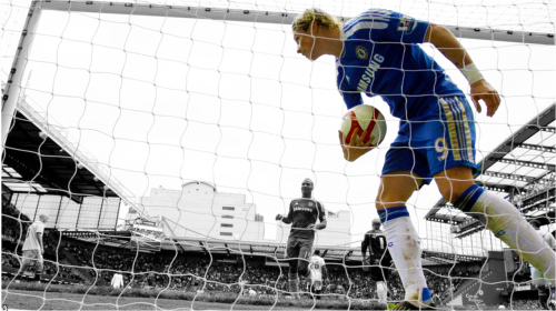 Fernando Torres Wheels away with the ball after his goal My edit