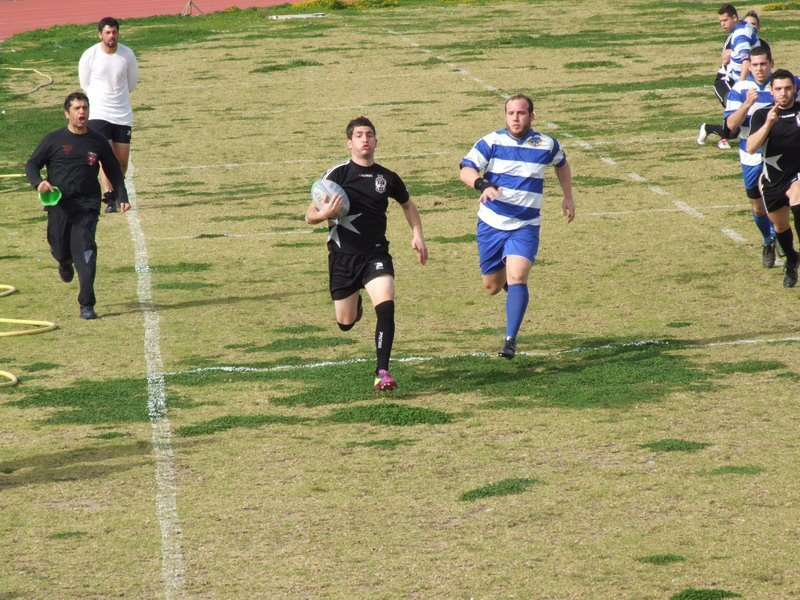 I play rugby in the Knights of Rhodes in Greece :D
