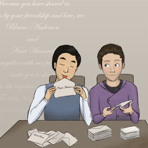 Klaine Week, Day 6: Wedding Invitations My Other Klaine Week Contributions