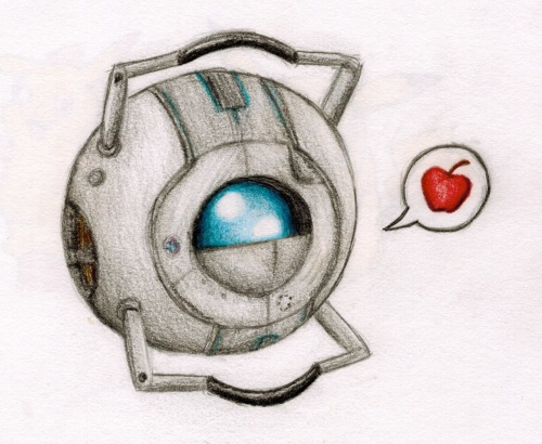 just, you know, casually drawing kawaii ol' wheatley from memory