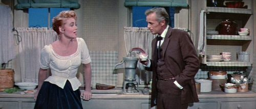 (via Coffee coffee and more coffee: Coffee Break)  Dorothy Malone and Richard Widmark in Warlock (Edward Dmytryk - 1959)