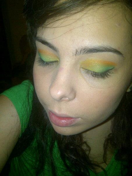 Saint Patty's Day makeup from Friday. My students loved it.