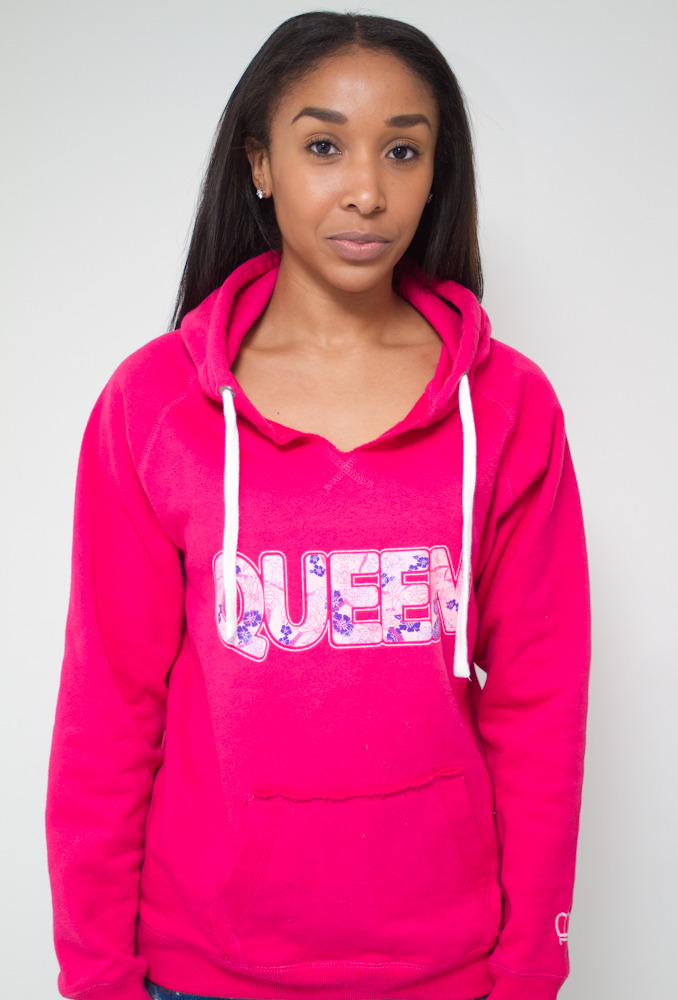 "Shop K.R.T. | The Limited Edition ""Floral"" Queen Hoodie in Wildberry http://shar.es/ps88j www.kingsruletogether.com/store/"