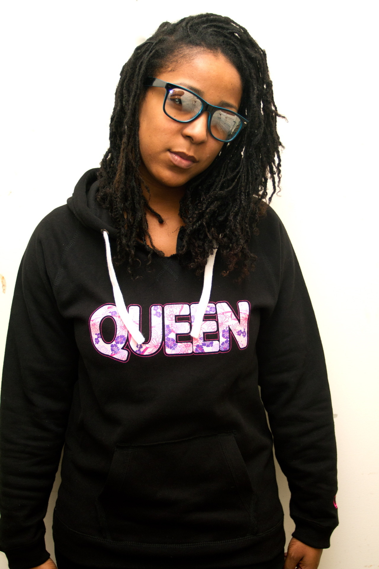 "Shop K.R.T. | The Limited Edition ""Floral"" Queen Hoodie in Black http://shar.es/ps88j www.kingsruletogether.com/store/"