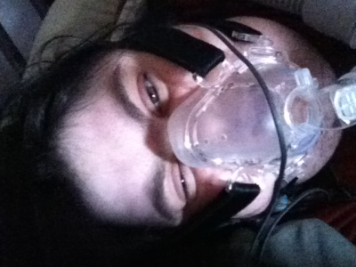 It's actually getting hard to breathe. I'm going to be fine with the bipap on. It's got a setting where it detects non-breathing or shallow breathing and pushes huge amounts of air into my lungs.  And I've survived much worse than this before even without the bipap, although it was hard and involved greatly slowing my breathing so I could rest in between breaths.  But this is serious, in terms of how my muscles are faring in all this, and which ones are getting messed up.