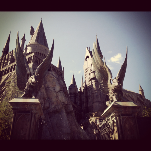 Hogwarts!!!! This ride is awesome and the butterbeer is even better.