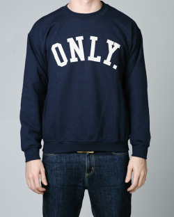 minervastreetwearproducts:  Only NY - Varsity Crewneck - Navy