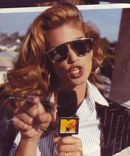 Cindy Crawford hosting MTV's House of Style