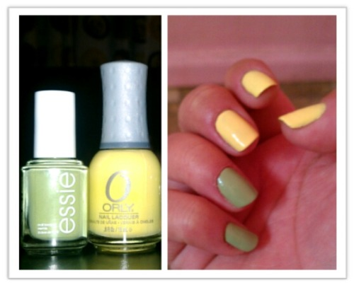 Navigate Her by Essie and Lemonade by Orly