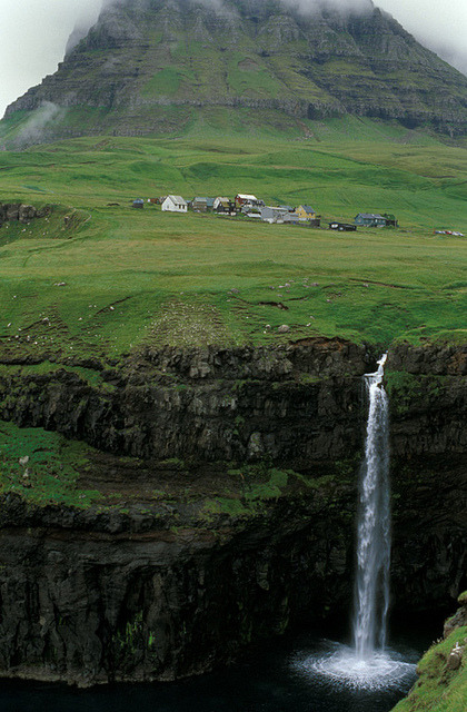Waterfall, Faroe Islands photo via sbeautiful
