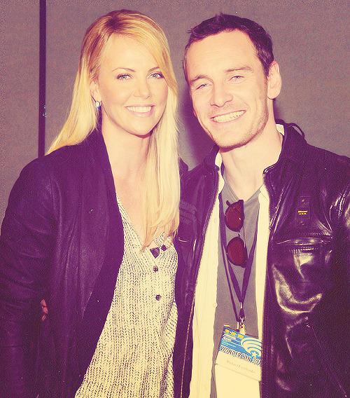 Charlize Theron and Michael Fassbender appearing at the WonderCon Panel for Prometheus (March 17, 2012)