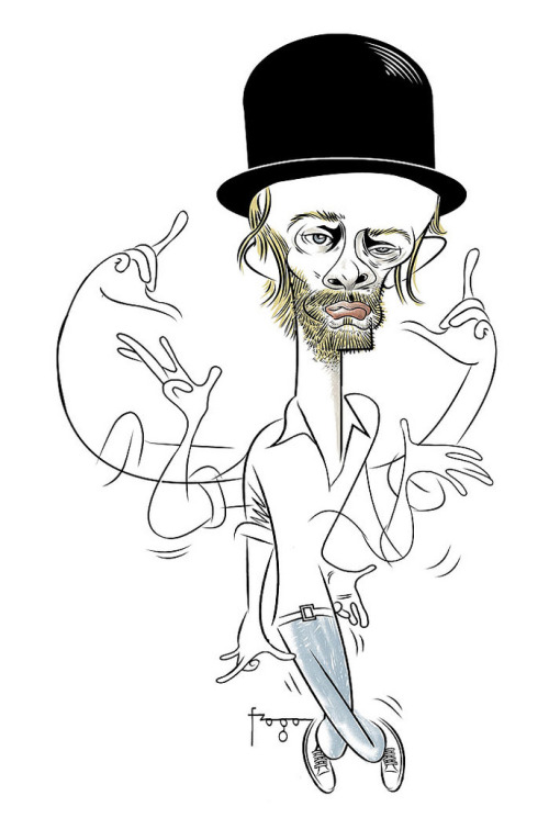 Dance Dance Revolution Radiohead's Thom Yorke illustrated by Gilmar Fraga :: via flickr.com