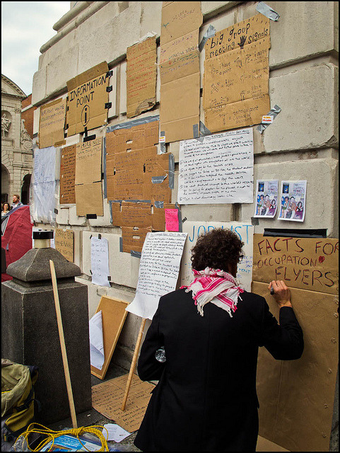 Clean Slate by Sven Loach on Flickr.Occupy London (shot from October 2011)