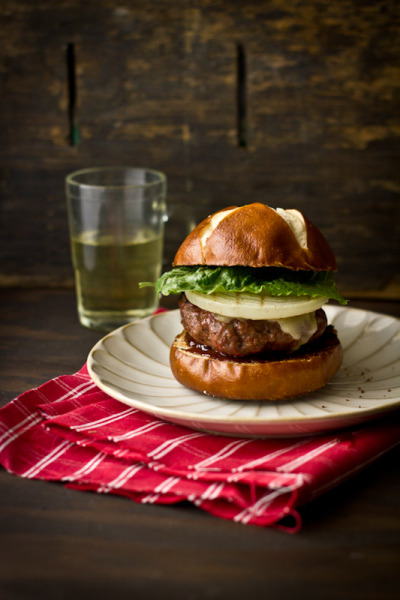 Barbequed Maple Balsamic Burger with Sharp Cheddar Cheese Recipe