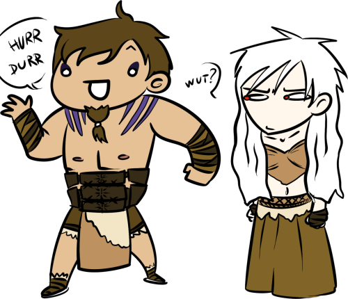 …I made it weeks ago, why didn't I post it? Yes. Those are Drogo (Spain) and Daenerys Targaryen (Prussia). Don't ask.