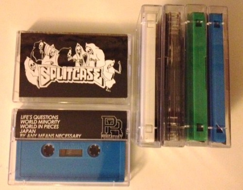 Splitcases first release on purgatory records. Hard NYHC styled jams via NGHC, bringing to mind Crown of Thornz and Madball. Splitcase's - By any means necessary Tape features five new tracks. Life's questionsWorld MinorityWorld in piecesJapanBy any means necessary Four different colourways to pick up Blue(20/50)Green(10/50)Clear(10/50)White(10/50 http://purgatoryrecords.bigcartel.com/