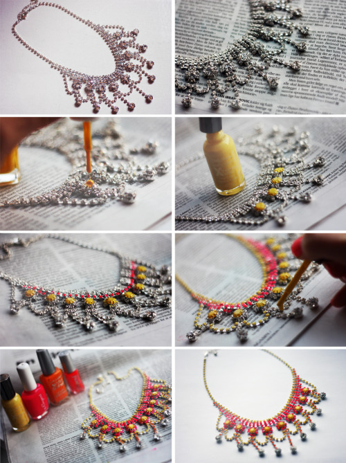 what-do-i-wear:  D.I.Y Necklace Inspired by Tom Binns (image: passionsforfashion)
