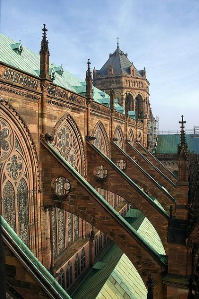 darkhaus:  Flying Buttresses of Strasbourg Cathedral