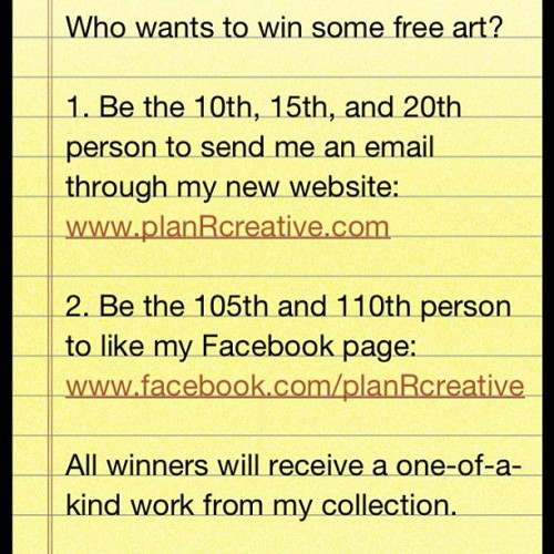 #art #giveaway #contest #graffiti  (Taken with instagram)