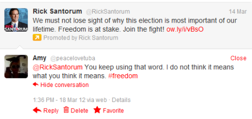 sofapizza:  madmarriage: he keeps using santorum wrong too. we all know what it really means.