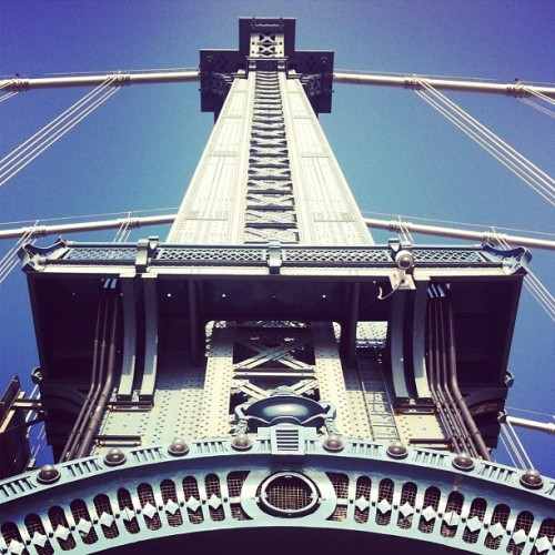 Manhattan Bridge tower.  (Taken with instagram)
