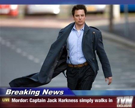 doctorwho:  Captain Jack Simply Walks into Mordor