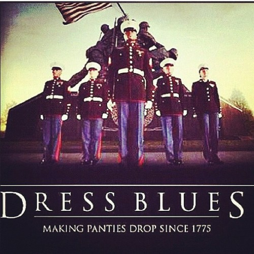 LOVEEEE THIS!!! #usmc #marine #marinecorps #marinewife #oorah #dressblues #love (Taken with instagram)